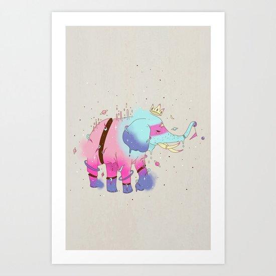 SPACE ELEPHANT Art Print