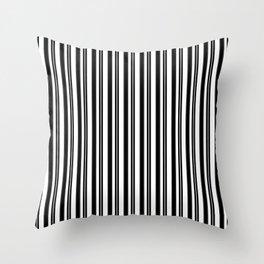 Ticking Black and White Throw Pillow