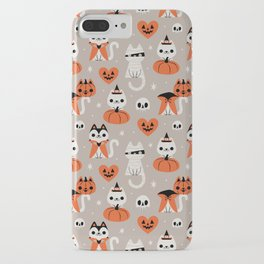 Halloween Kitties (Gray) iPhone Case