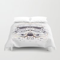 stormtrooper Duvet Covers featuring stormtrooper by yoaz