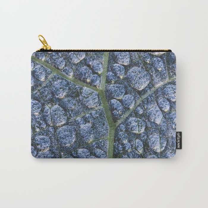Cool water drops dew texture leaf Carry-All Pouch