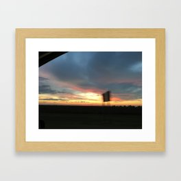Highway Sign Framed Art Print