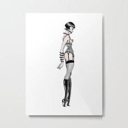 Strap Girl Metal Print