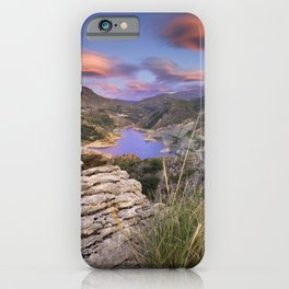 Clouds over the lake iPhone Case