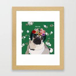 Frida-Pug Framed Art Print