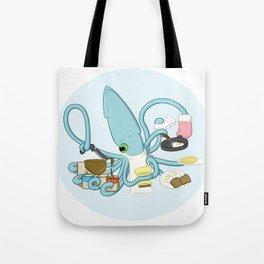 Diner Squid Tote Bag