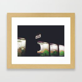 lonesome / crowded Framed Art Print