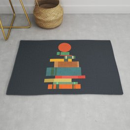 Book stack with a ball Rug