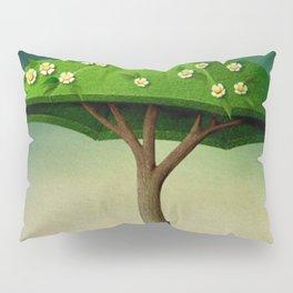 A umbrella  single flowering tree Pillow Sham