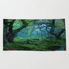 Enchanted forest mood Beach Towel