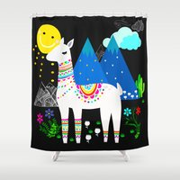 peru Shower Curtains featuring Peru at Night by MY  HOME