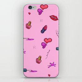 Pink Girly Pattern iPhone Skin