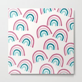 Rainbow Dream Pattern #1 (Kids Collection) #decor #art #society6 Metal Print