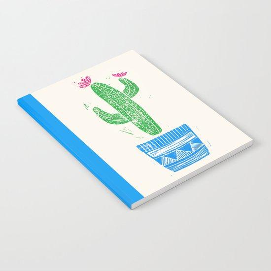 Linocut Cactus #2 in a pot Notebook