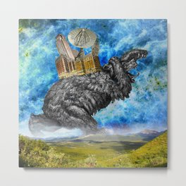 Hugo the giant Bear Metal Print