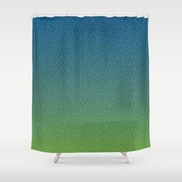 Constellations (Green) Shower Curtain
