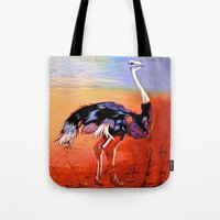 ostrich Tote Bags featuring Ostrich by Vicki Lynn Rae