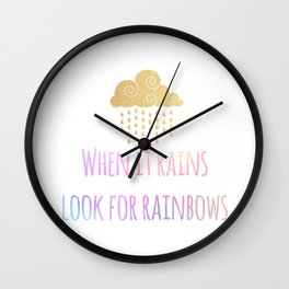 Look for Rainbows Wall Clock