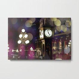 Gas Town Steam Clock Metal Print