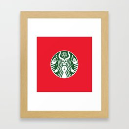The Red Cup Of Doom Framed Art Print