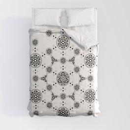 molecule. alien crop circle. flower of life and celtic patterns Comforters