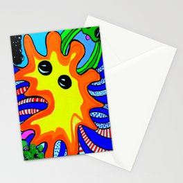 Microbes' eyes Stationery Cards