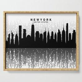 NYC Skyline 02 Serving Tray