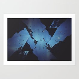 Mountains Celebration Art Print