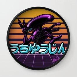 Retro Alien Wall Clock