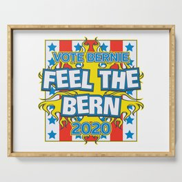 Vote Bernie Feel the Bern 2020 Serving Tray