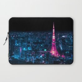 Tokyo Tower at Night Laptop Sleeve