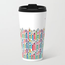 Houses and Birds Travel Mug