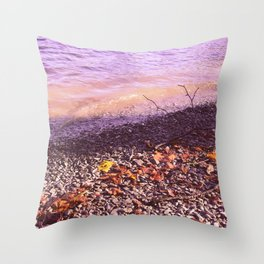Lake Windermere Shore, The Lake District - Nature Photography Throw Pillow