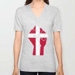 Team Denmark Flag T-Shirt Unisex V-Neck