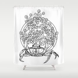 Bullseye Crab Shower Curtain