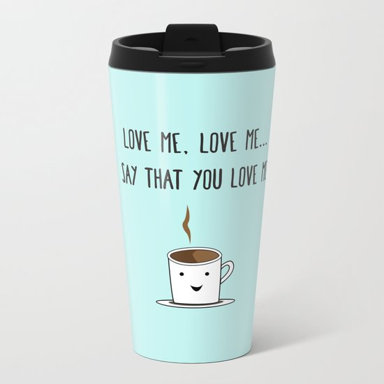 Coffee Love Metal Travel Mug