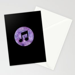 Galaxy Style Music Stationery Cards