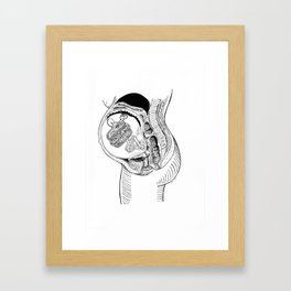 The Anatomy of a Burger Baby Framed Art Print