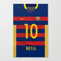 messi Canvas Prints featuring Barcelona Messi by Diego Tirigall