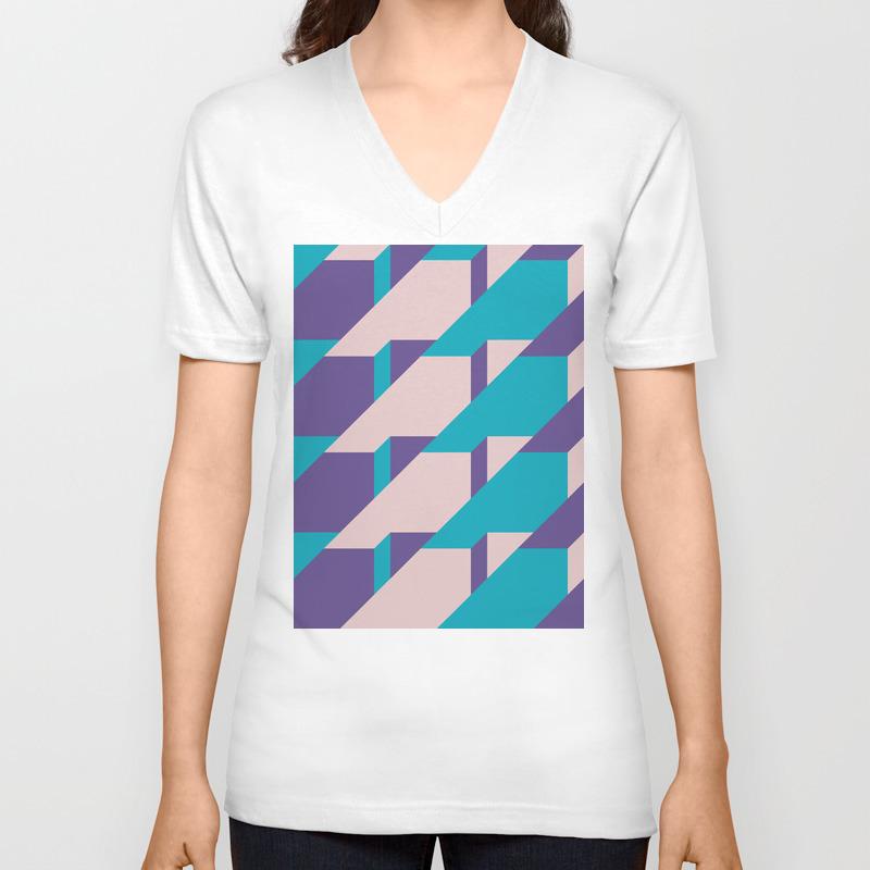 Abstract Glow #society6 #glow #pattern Unisex V-neck by Designdn VNT8654463