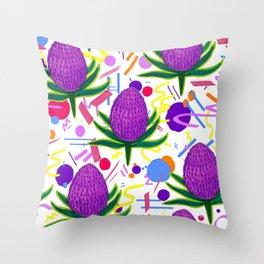 White Banksia Throw Pillow