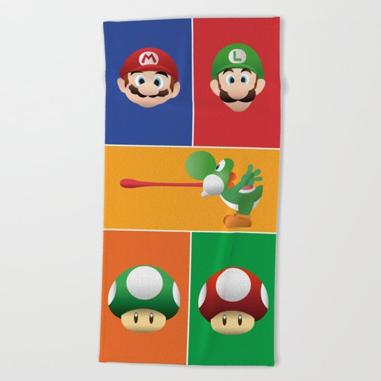 Mario Party Beach Towel