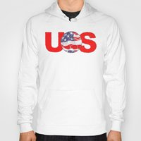 soccer Hoodies featuring USA Soccer by Bunhugger Design