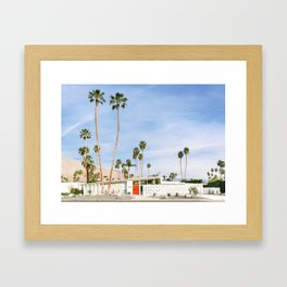 Palm Springs Red Doors Framed Art Print