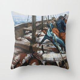 Fishing 3 Throw Pillow