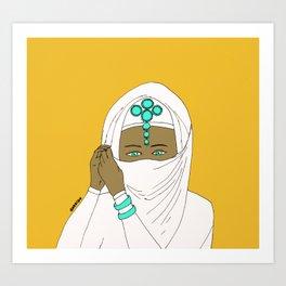 White burqa Art Print