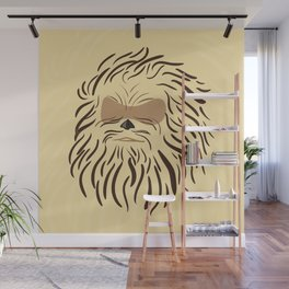 Portrait of Chewbacca Wall Mural