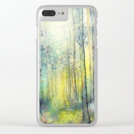 Light from above - forest painting Clear iPhone Case