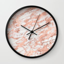 Blush Gold Quartz Wall Clock