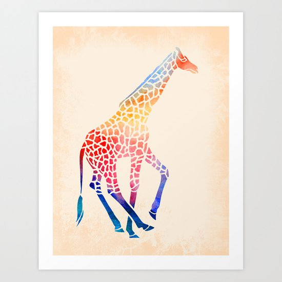 Watercolor Giraffe Art Print